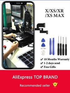OEM панель в сборе для iPhone X, сенсорный ЖК-экран XS, без битых пикселей, запасная часть ЖК-дисплея для iPhone XS Max XR