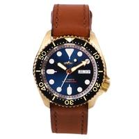 HEIMDALLR-Reloj de bronce para hombre, pulsera mecánica de buzo NH36, luminoso, Skx007, 41mm