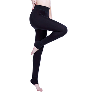 Image 3 - Autumn Winter Fashion Explosion Model Plus Thick Velvet Warm Seamlessly Integrated Inverted Cashmere Leggings Warm Pants