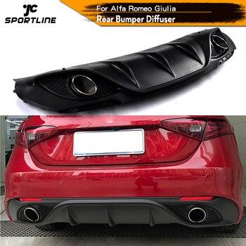 Difusor de labio para parachoques trasero de coche, alerón negro PP con...