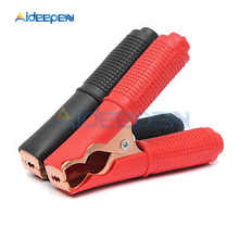 2pcs Alligator Clips Car Battery Clamps Crocodile Clip 100A Red Black Pair Electrical Connection Battery Terminals Power Test large size power test clips black red 10 pcs