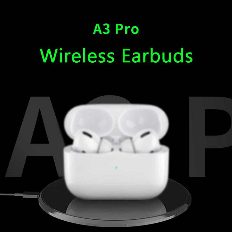 Gen 3 A3 Pro Bluetooth Earphone Wireless W/ In-ear Detection Touch Control Rename Location Track Earbuds For IPhone 11 Android