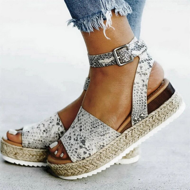 LIAOCHI LiaoChi 2019 Wedges Shoes Woman Sandals Plus Size 36-43 High Heels Summer Shoes Sandalia Feminina Platform Sandals