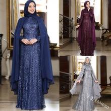 Muslim hijab scarf and elegant abaya dress hooded cloak turkish dresses muslim women plus size 5XL robe ramadan casual kaftan