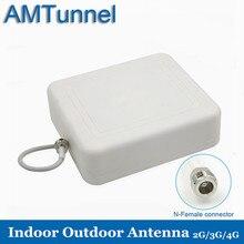 Antena direcional fêmea 806 2700 mhz do n da antena 8dbi 3g exterior da antena 4g lte da g/m para o amplificador do sinal das celulares