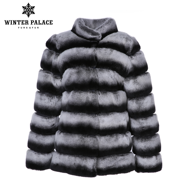 Nuovo prodotti di inverno del coniglio del rex cappotto Blu Viola reale del coniglio di rex cappotto di pelliccia di Spessore Caldo di Inverno Della Pelliccia giacche Delle Donne di Rex pelliccia di coniglio
