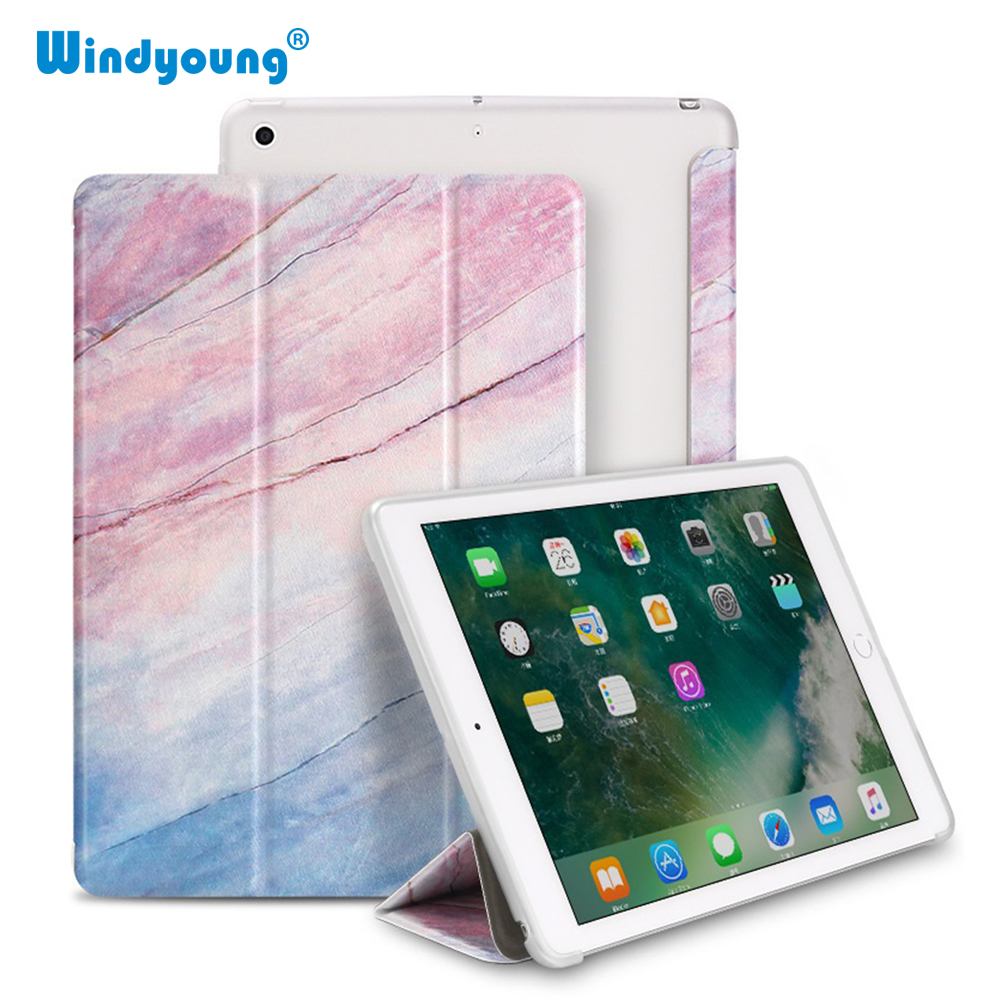 Case For iPad 9.7 2017 2018 Marble Case For iPad Air 1 soft silicone case For iPad Air 2 Stand Holder For iPad 2018 Smart Cover image