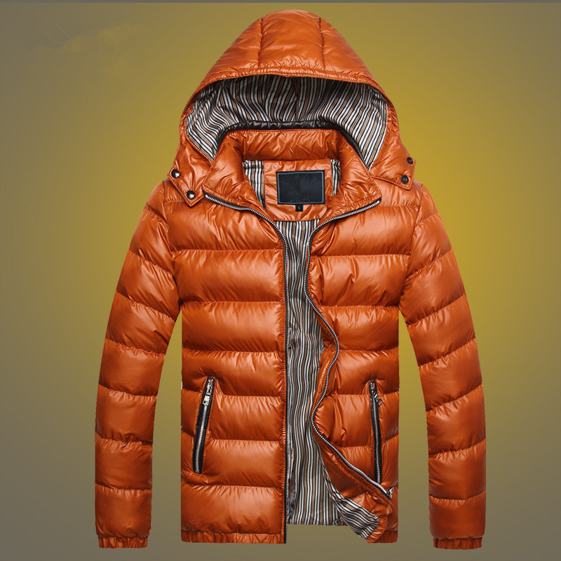 Мужская куртка; Мужское пальто; топы; зимняя стеганая Повседневная парка с капюшоном и длинным рукавом