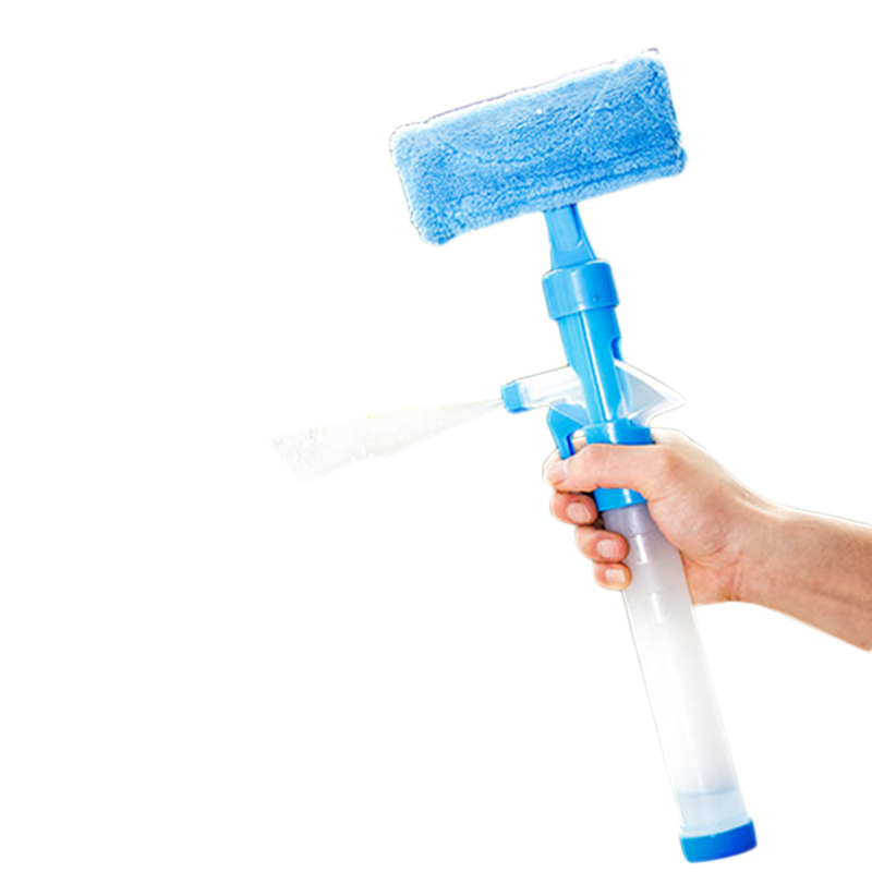 Spray Type Cleaning Brush Glass Wiper Window Cleaner Easy To Use Telescopic Handle Cleaning Washing Brush