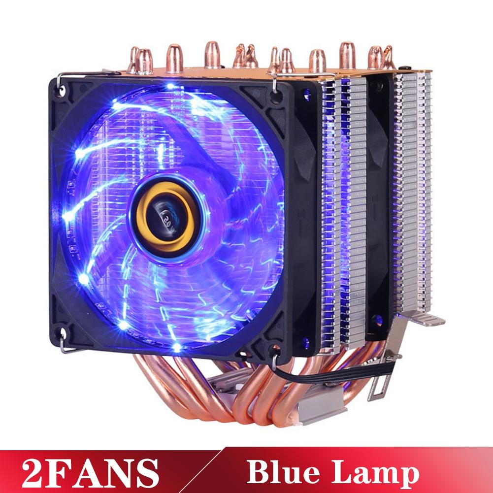 6 Heatpipes RGB CPU Cooler Radiator Silent PWM 4PIN 130W For Intel LGA 1150 1151 1155 1200 1366 2011 X79 X99 AM3 AM4 Ventilador 4