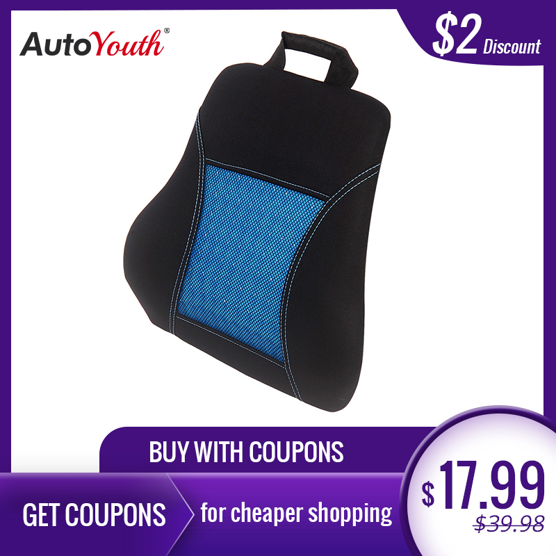 Mesh Super Soft Chair Back Support Lumbar Support Car Seat Cushion Back Pain Memory Polyester Black and Blue