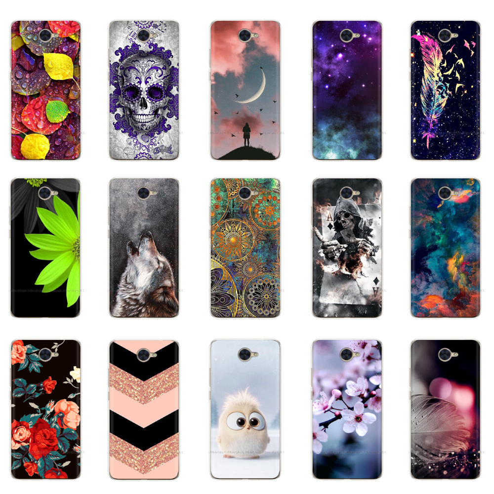 Soft TPU Silicone For Huawei Y7 2017 Case Cover Painting Phone For Huawei Y7 Y 7 2017 Cases 5.5 Inch Back Cover Funda Coque Capa