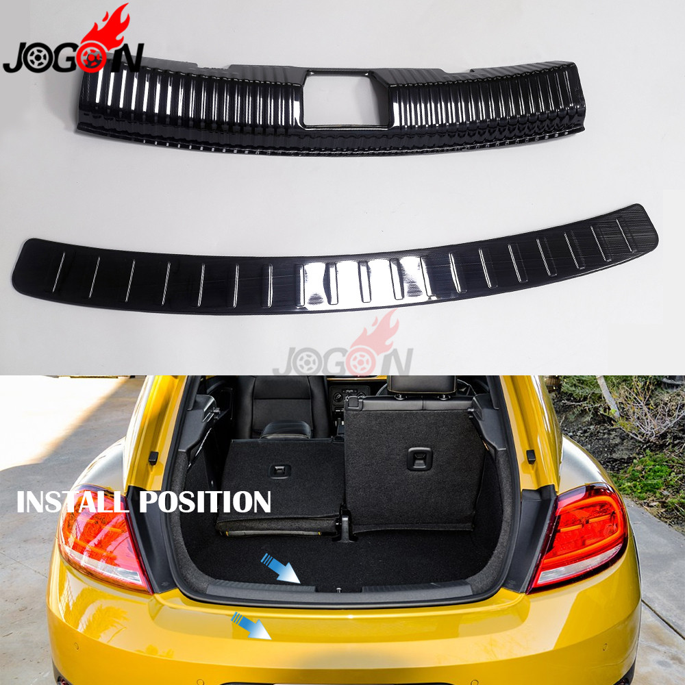 For Volkswagen Beetle 2012 2019 Car Trunk Interior Exterior Protector Rear Guard Trim Cover Sill Strip Scratch Plate|Styling Mouldings| |  - title=
