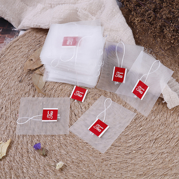 100pcs/lot Tea Bag Infuser With String Heal Seal 7 x 6cm Sachet Filter Paper Teabags Empty Bags