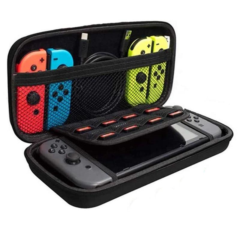 Жесткий чехол из ЭВА для Nintendo Switch Nintendos, переносной чехол для консоли Switch, больше держателей для карт для Nintendoswitch
