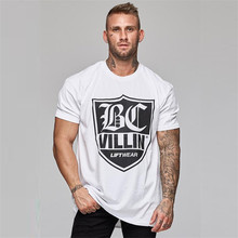 2019 brand new mens white fashion T-shirt top jogger short-sleeved casual cloth
