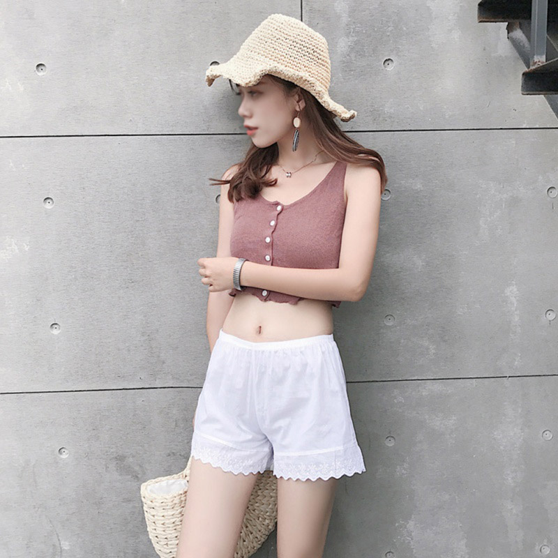 2019 Women's Shorts Summer New Style Elegant Fashion Design Cotton Lace Soft Comfortable Solid Color Casual Breathable Shorts