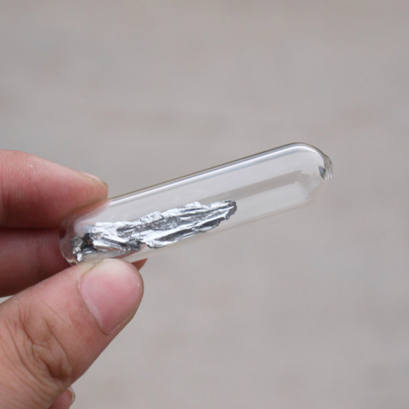 10 grams 99.999/% purity Aluminum metal granules sealed in ampoule