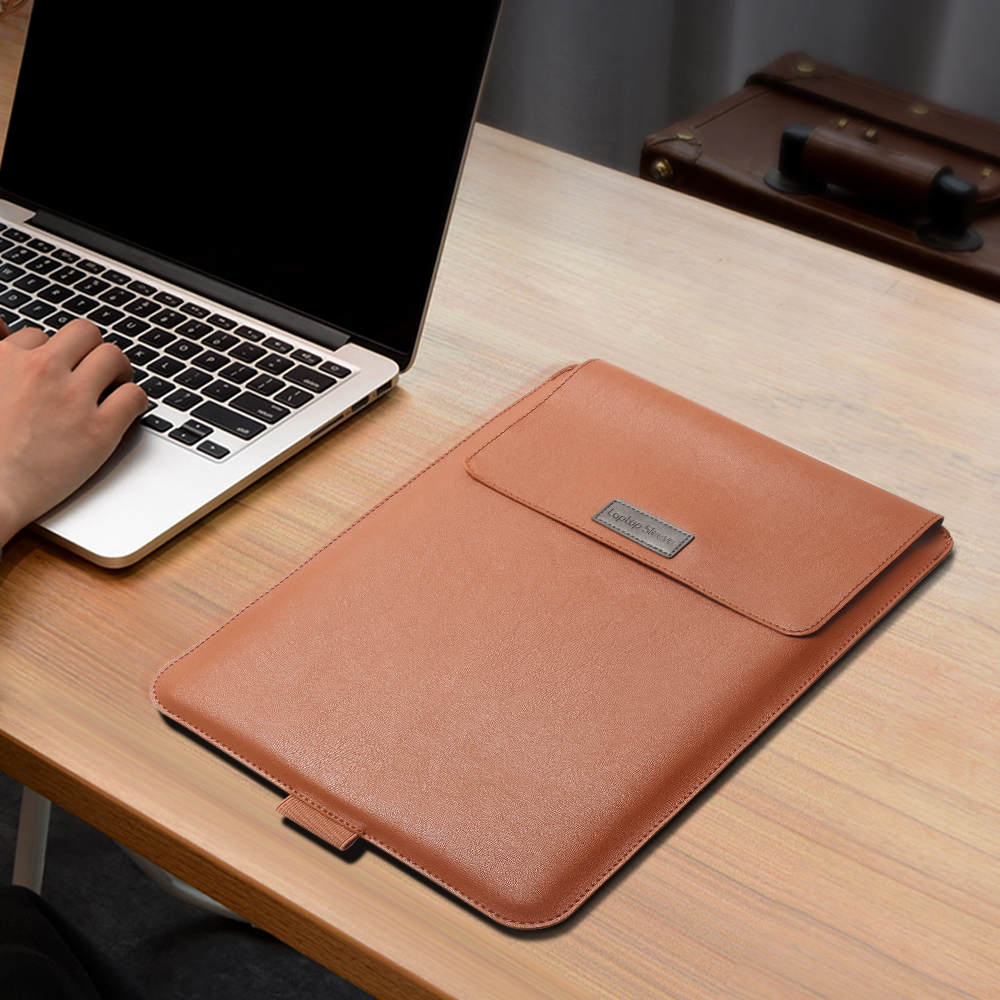 Laptop Bag For Macbook Air Retina Pro 11 12 13 14 15 15.6 inch, PU Leather Laptop Sleeve Case For Xiaomi HP Dell Huawei Matebook(China)