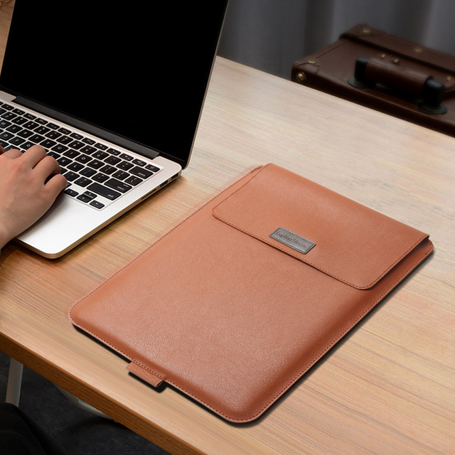 Laptop Bag For Macbook Air Retina Pro 11 12 13 14 15 15.6 inch, PU Leather Laptop Sleeve Case For Xiaomi HP Dell Huawei Matebook