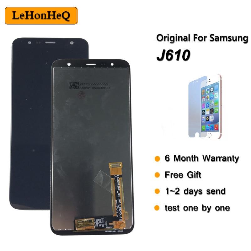 Super AMOLED para Samsung Galaxy J6 + 2018 J610 SM J610F J610FN LCD pantalla táctil montaje para Samsung J6 plus pantalla lcd| |   - AliExpress