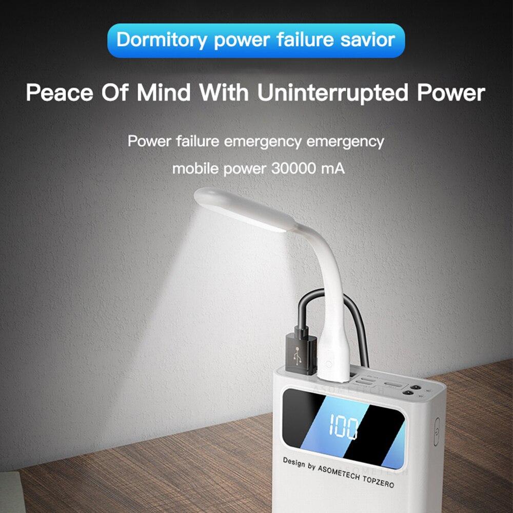 Внешний аккумулятор 30000 мАч светодиодный дисплей Портативный внешний аккумулятор TypeC Micro USB внешний аккумулятор зарядное устройство поверб...