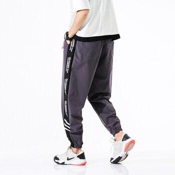 2020 New Hip Hop Joggers Cargo Pants Men Harem Pants Multi-Pocket Ribbons Man Sweatpants Streetwear Casual Mens Pants S-6XL - XXXL, 2001dark grey