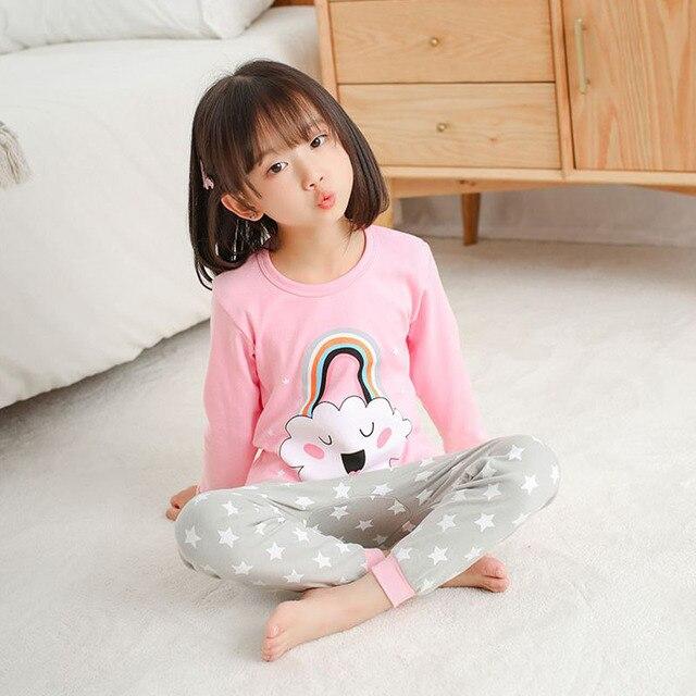Pijamas de los niños de Otoño de niñas niños 2