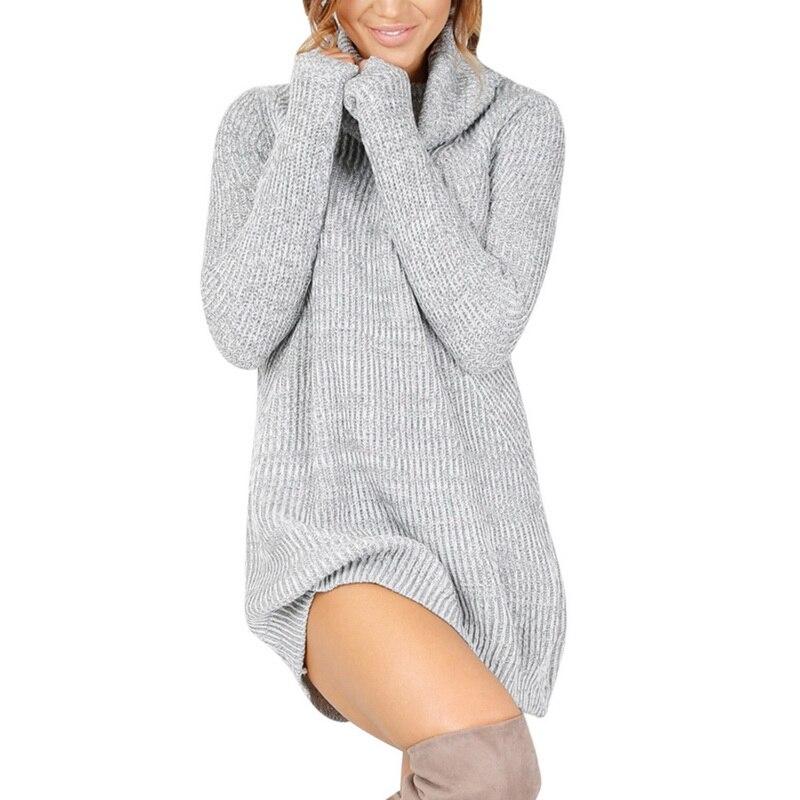 Ladies ribbed turtleneck sweater