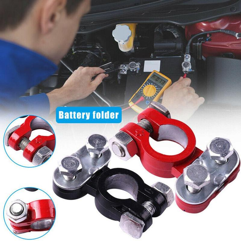 2pcs Automotive <font><b>Car</b></font> Boat Truck <font><b>Battery</b></font> Terminal Clamp Clip <font><b>Connector</b></font> Pile Head Aluminum-magnesium Alloy <font><b>Battery</b></font> Terminal image