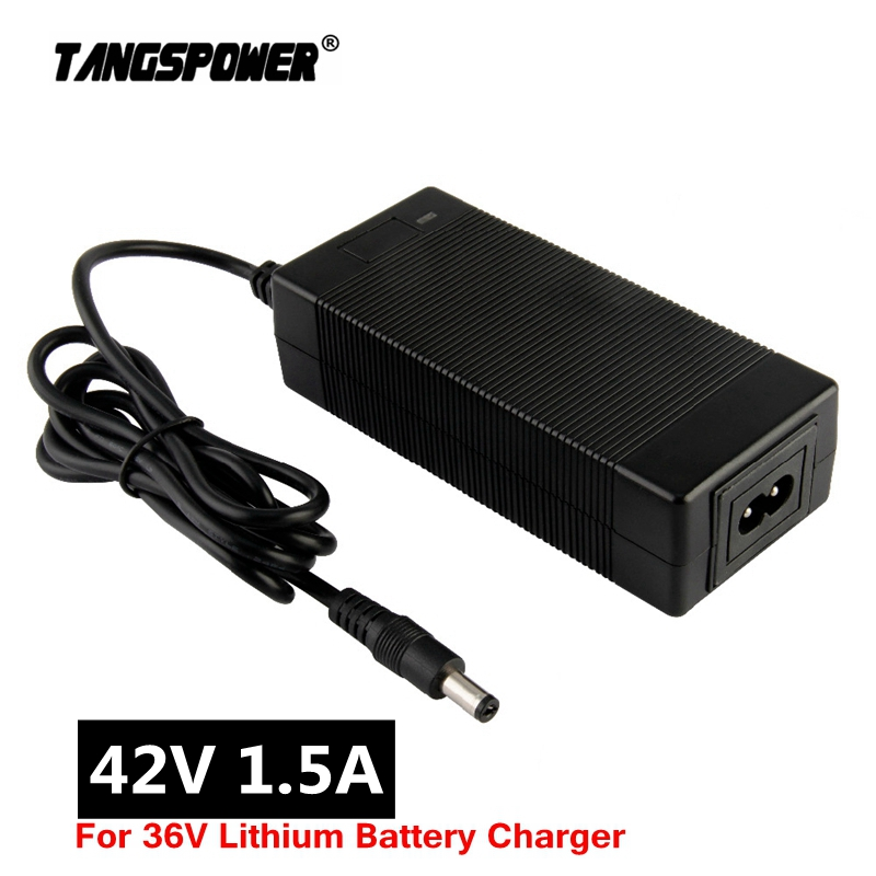 Output 42V 1 5A Lithium Battery Charger Input 100-240V For 10Series 36V Electric scooter e-Bike Charger DC 5 5 2 1 Connector