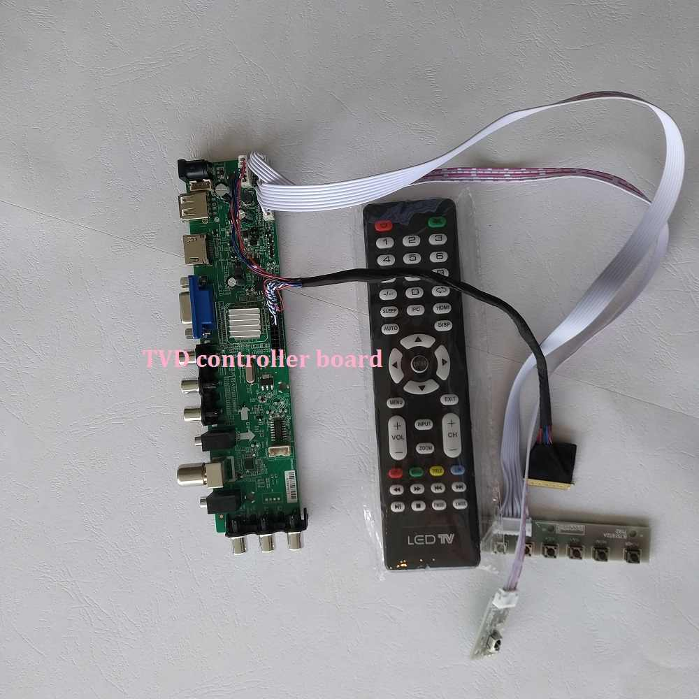 "Kit Voor LP156WH2 (Tl) (Qb)/LTN156AT05 Led 1366X768 14.0 ""Usb DVB-T2 40pin Av Tv Hdmi Vga Digitale Signaal Controller Board Dvb-t"