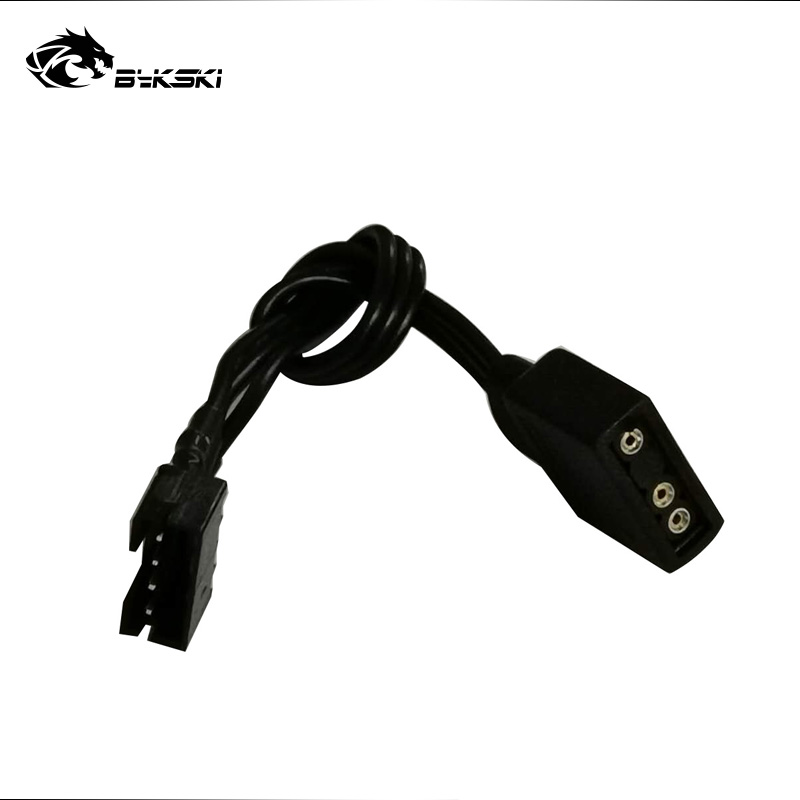 Bykski AURA Motherboard 5V 12V Lighting Transfer Cable Connect ASUS/MSI Mainboard Adjust Fan Pump LED Light B-CNTR-95X3/4L 1