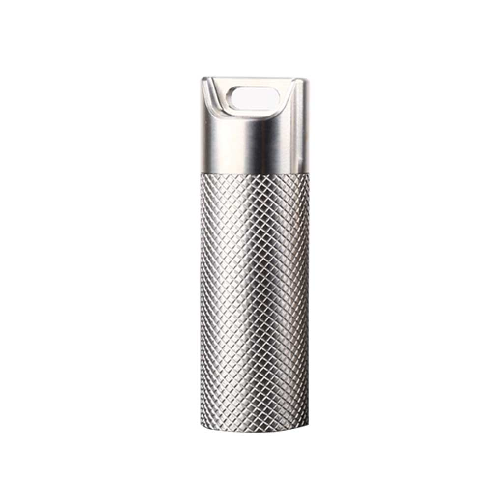 Case Outdoor Home Elderly People Medicine Bottle Travel Waterproof Titanium Alloy Pill Container Holder Portable Small Durable
