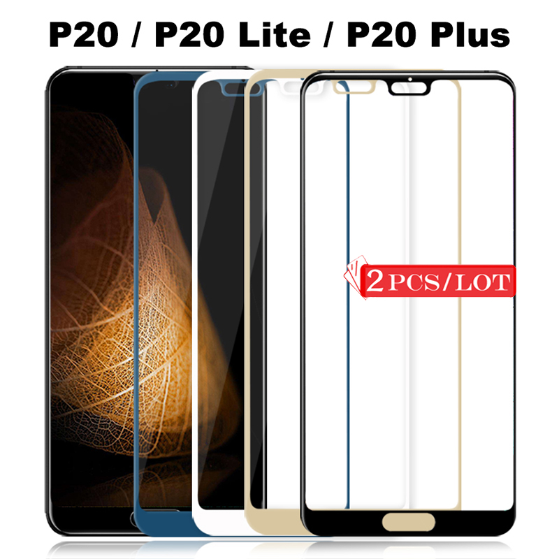 2Pcs Tempered Glass For Huawei P20 Lite Protective Glass For Huawei P20 Pro Screen Protector P20Lite 20Lite P 20 Light P20Pro