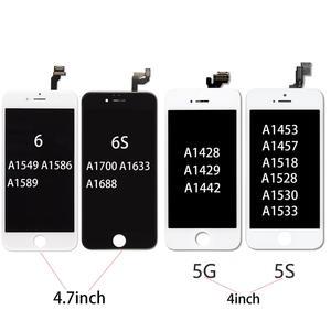 Image 2 - Handy Grade AAA + + LCD Display für iPhone 5 5s 6 6s 7 3D Touch Digitizer Montage screen Ecran Ersatz + Gehärtetem Glas