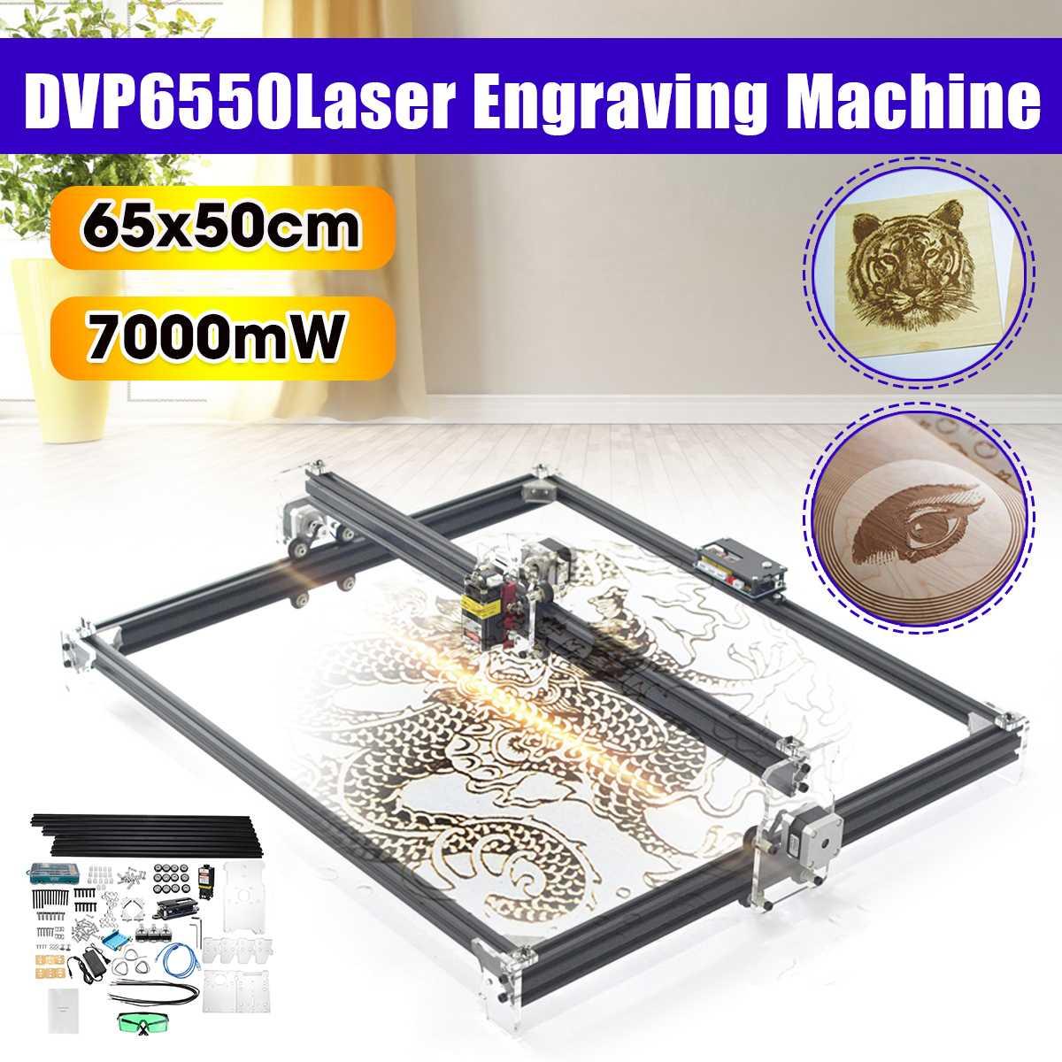 65*55cm 7000MW niebieski maszyna do grawerowania laserowego cnc 2 osi 12V DIY Home grawer pulpit frezarka do drewna/frez/drukarka