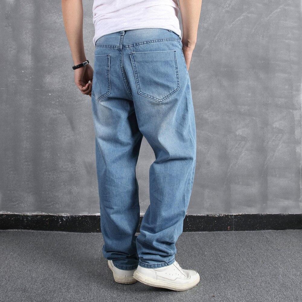 Men`s Loose Large Size Fat Casual Fashion Hip Hop Street Dance Denim Trousers #4L31 (2)