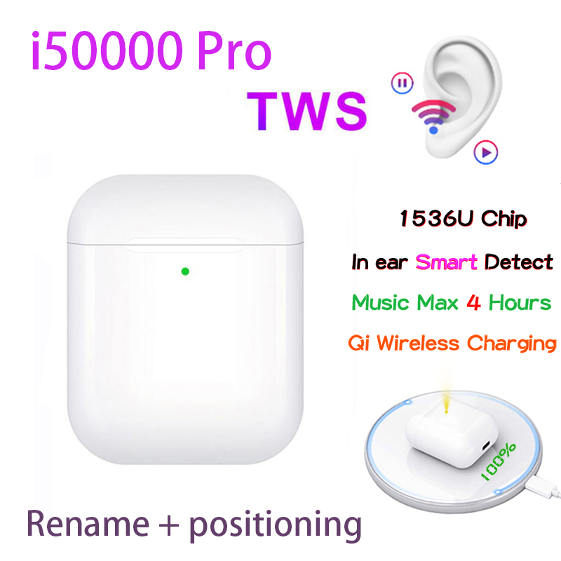 Original I50000 Pro TWS 1:1 In Ear Blutooth Earphone Aire2 Mini Wireless Earbud H1 Aire 2 Headphones Headset PK W1 Chip Elari