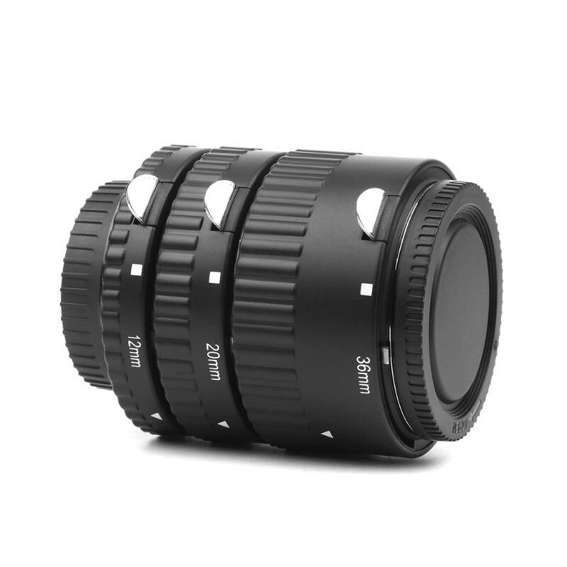 12MM 20MM 36MM XT-365 Auto Focus Macro Extension Tube adaptateur bague pour Nikon DSLR appareils photo D7100 D7000 D5500 D5300 D5200 D510