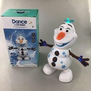 Figuras de la película Olaf, juguetes para niños, baile eléctrico, luz de nieve, concierto, cantar, swing, bailar, Robot, muñeco de nieve, máquina, juguetes, regalos