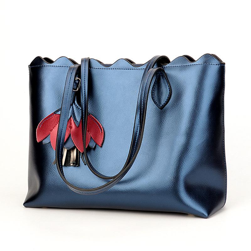 2019 Handbag Women's Bag Casual Fashion Leather One Shoulder Bag  Women  Genuine Leather  Shoulder Bags Shopping Bag