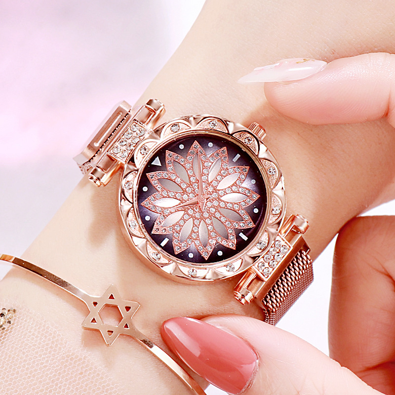 2019 Montre Femme Marque De Luxe Fashion Lady Magnetic Watch Casual Female Quartz Watch Relogio Feminino Drop Shipping