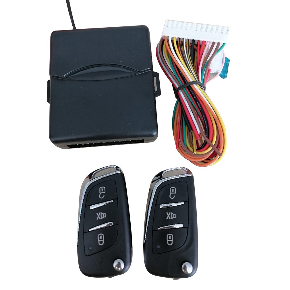 Universal Car Auto Keyless Entry System Button Start Stop LED Keychain Central Kit Door Lock with Remote Control