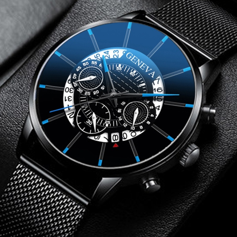 Geneva Fashion Simple Men Watches Stainless Steel Business Mens Clock Quartz Wrist Watches Reloj Hombre Relogio Masculino 2019