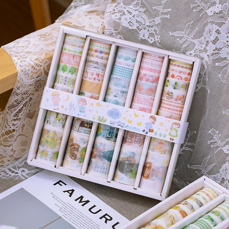 200 PCS/LOT Peaceful Time Series Paper Decorative Tape Masking Tape Washi Tape