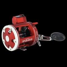 Caminhada peixe 2 cores carretel de pesca de alta velocidade 3.8:1/5.2:1 profundidade elétrica contando esquerda/mão direita corpo multiplicador tambor fundido roda