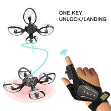 W606-16 Valcano перчатки управления интерактивный миниатюрный Дрон Квадрокоптер Wifi FPV 480P вертолет камеры Квадрокоптер toys дрон с камерой мини квадракоптер игрушки игрушка