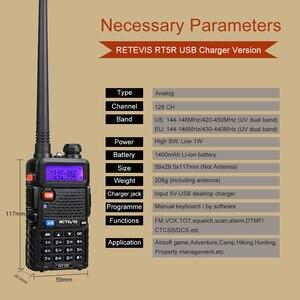 Image 3 - راديو محمول لاسلكي تخاطب 4 قطعة USB تهمة Retevis 5 واط RT5R 128CH VHF UHF ثنائي النطاق لاسلكي للهواة الإرسال والاستقبال 2 طريقة راديو RT 5R