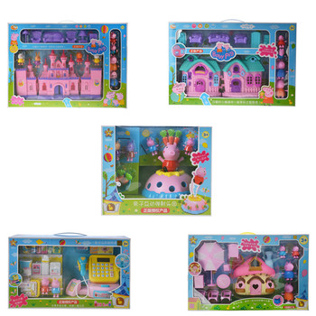 Peppa pig George pig Family Pack Dad Mom Puzzle Action Figure Original Pelucia Anime Toys Dolls For Kids children Christmas Gift